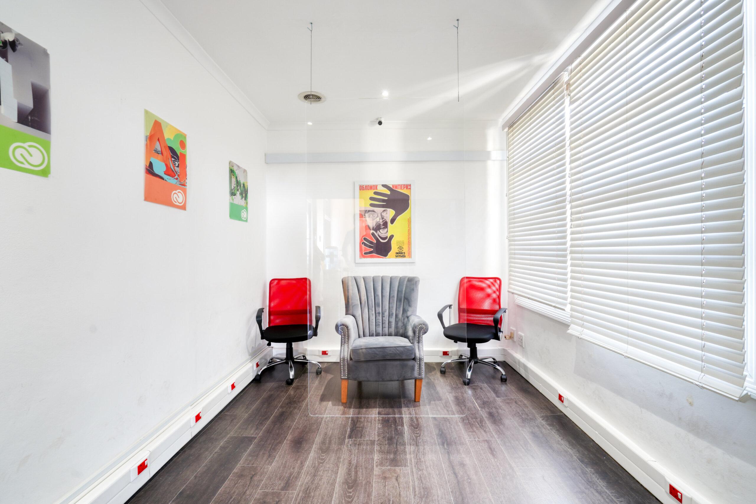 Consultation room, graphic design courses